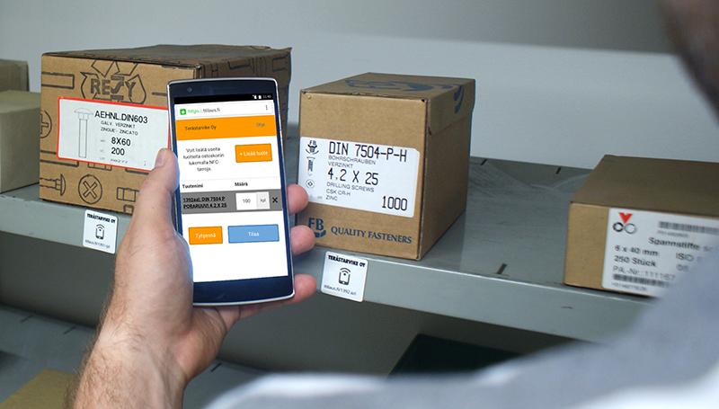 NFC-tilausjärjestelmän esite